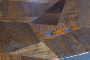 off-cut table close up