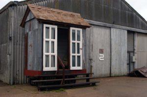 cinema hut made from salvaged materials